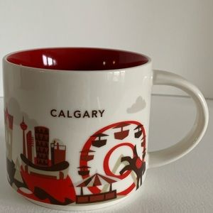 Starbucks Calgary edition Coffee cup. You are here